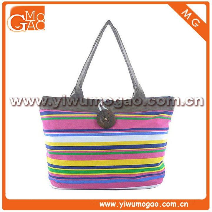 Оптовая популярных полосатый холст сумка мода девочек сумку