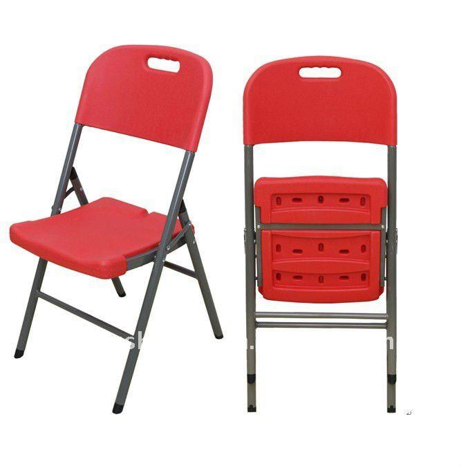 Moderna de pl stico rojo sillas plegables otros muebles for Sillas plasticas plegables
