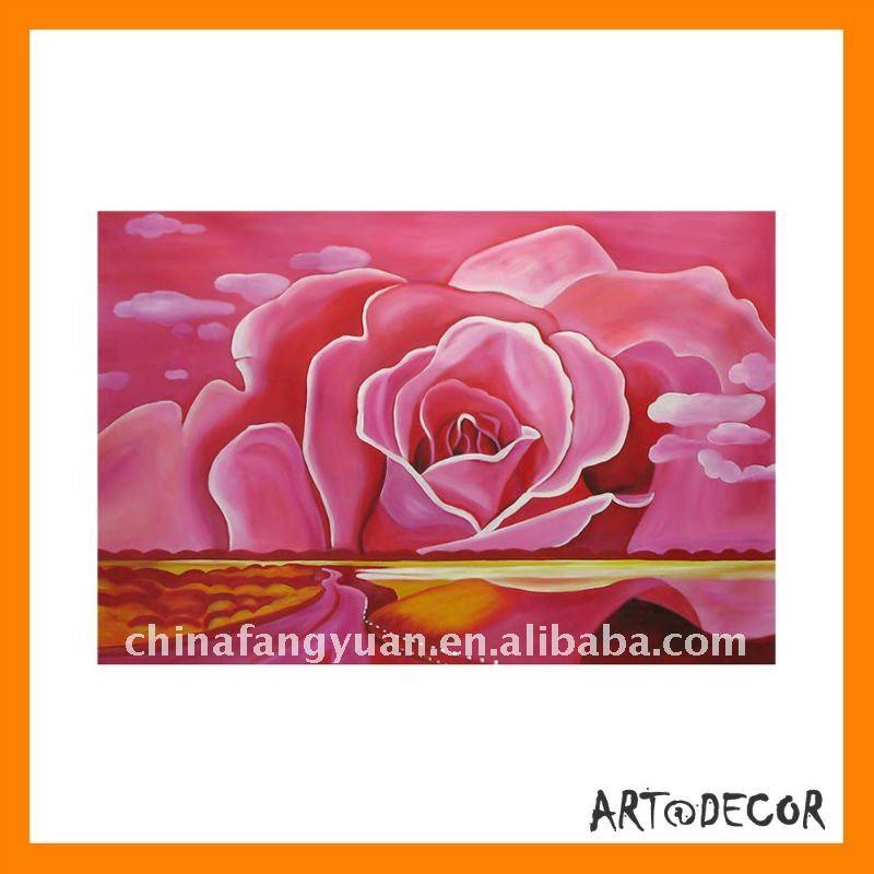 Precio De La Decoraci  N Pintada A Mano De Pintura Al   Leo Rosas