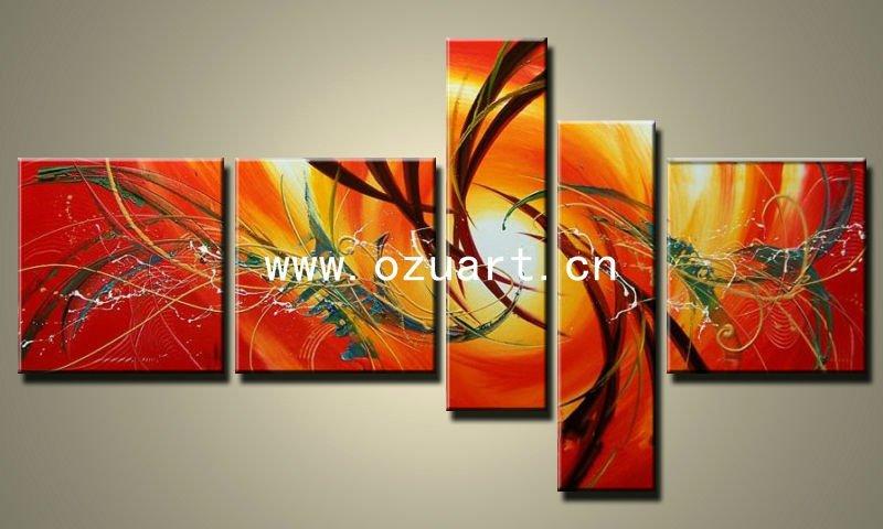 Moderne abstrait peinture acrylique sur toile - Toile acrylique moderne ...