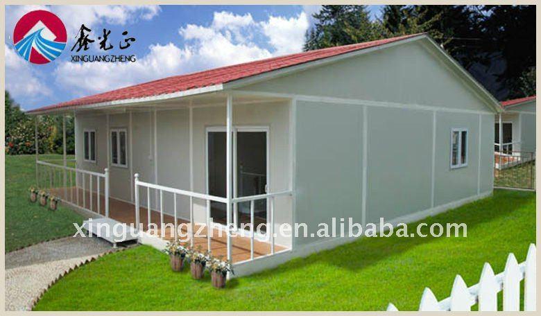 Hermosa estructura de acero prefabricada casa modelo - Casa prefabricada acero ...