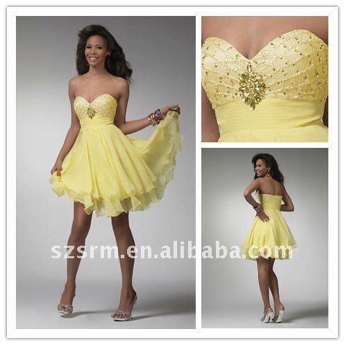 Cocktail Dress on Arabic Hot Cheap Sweetheart Short Beaded Chiffon Cocktail Dress Jpg