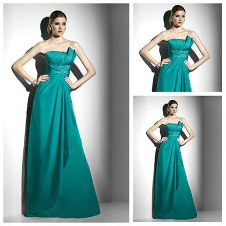 Emerald Green Dress on Largo Elegante Sat  N De Color Verde Esmeralda Vestido De Noche 2012