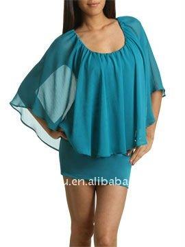 de patrones del cuello para mini vestido, ropa de moda fabricante