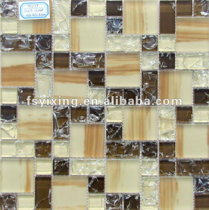 Grueso 8 mm vitrificados azulejos de mosaico de vidrio - Azulejos para mosaicos ...