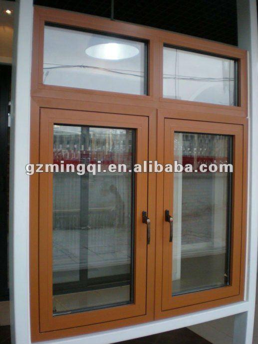 Los paneles de madera de la ventana de aluminio del marco for Marcos de ventanas de aluminio