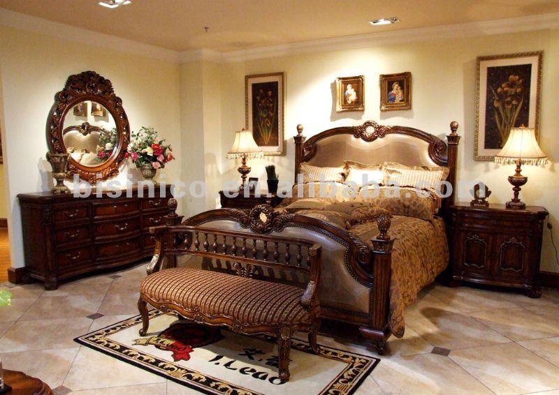 Antiguo juego de dormitorio cama king soporte de la for Dormitorio king