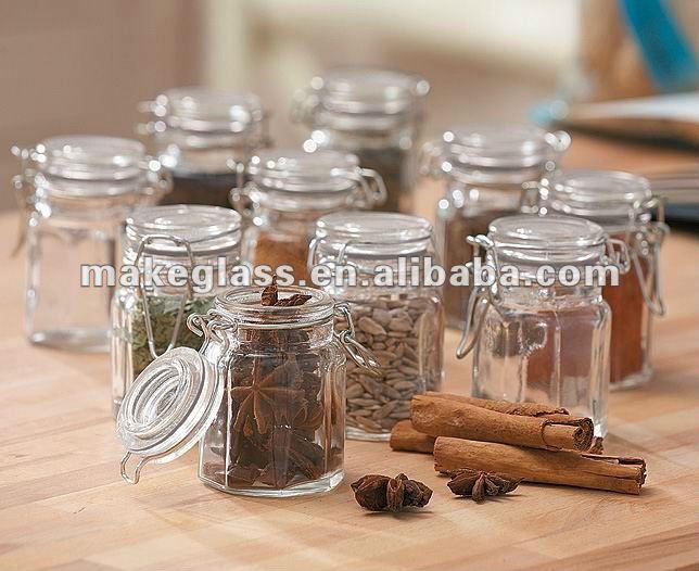 Mini vetro a chiusura ermetica vasetti bottiglie e vasetti - Vasetti di vetro decorati ...