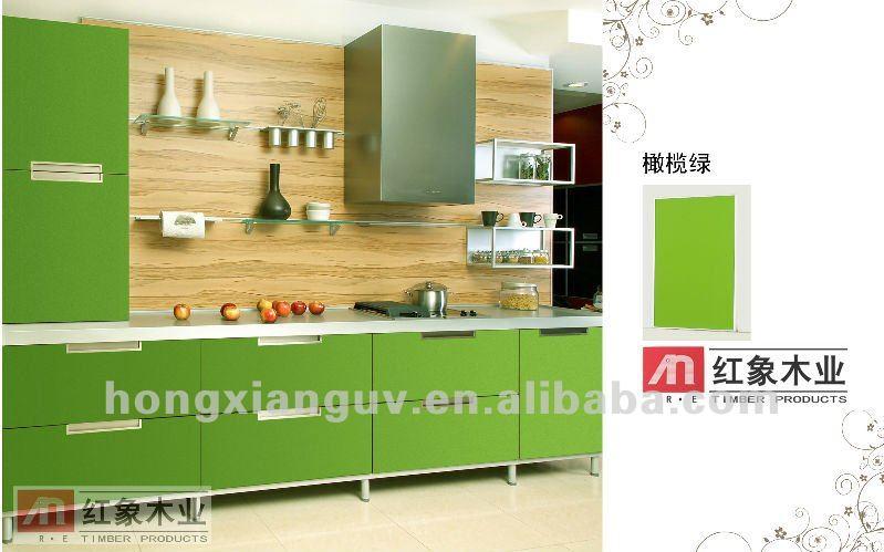 color verde oliva de aluminio panoprey para mueble de cocina armario