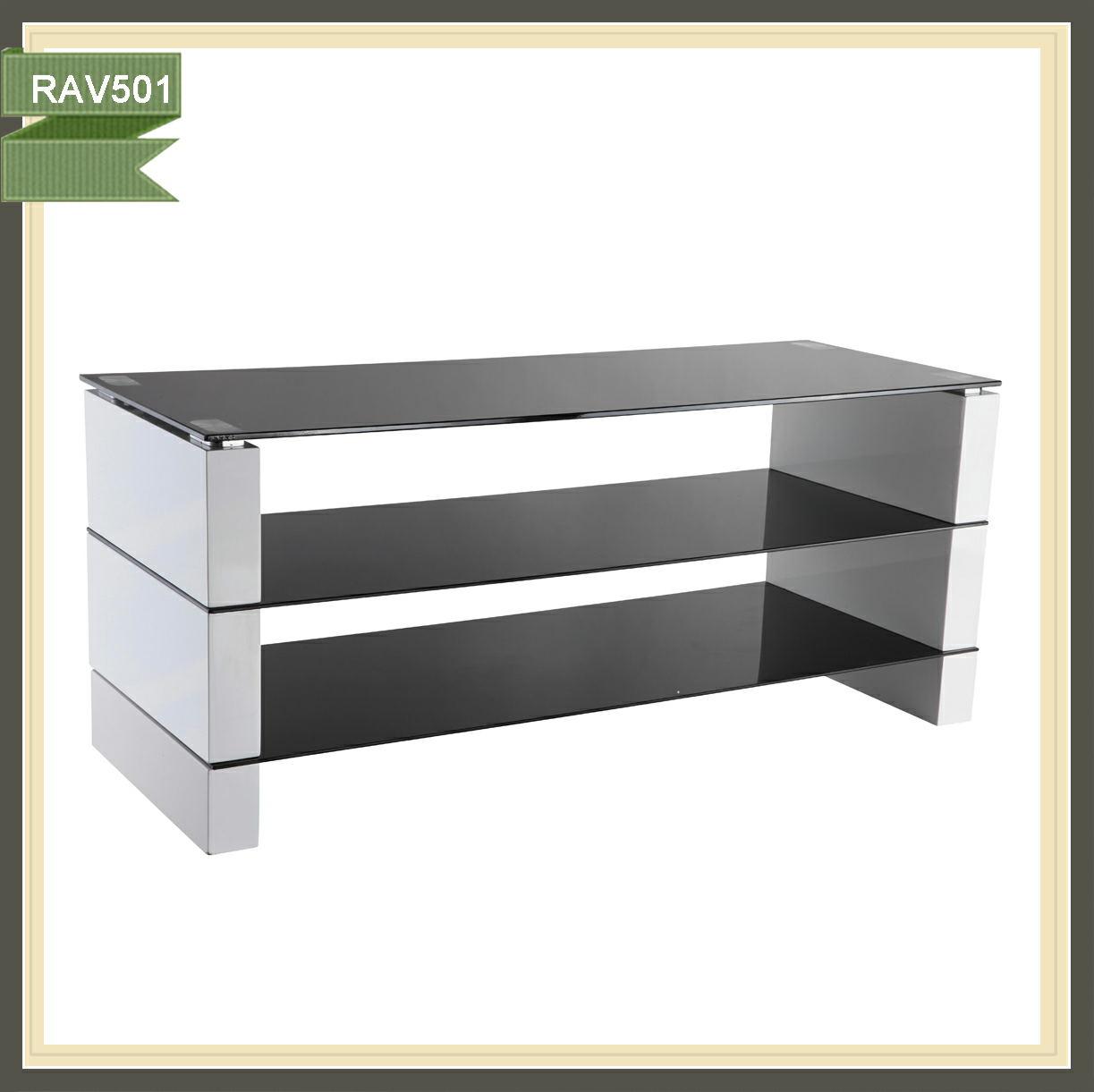 De tv de madera mesa con cajones de soporte de la tv mesa for Mesa para tv con cajones