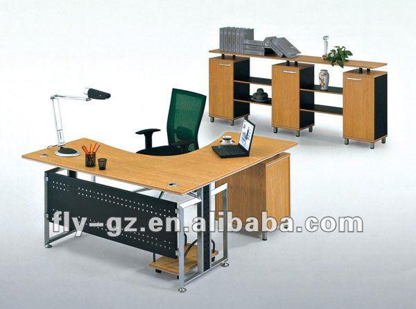En forma de l oficina de mesa ejecutivo muebles de oficina for Mesa oficina en l