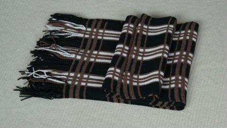 Вязание шарфа на машине