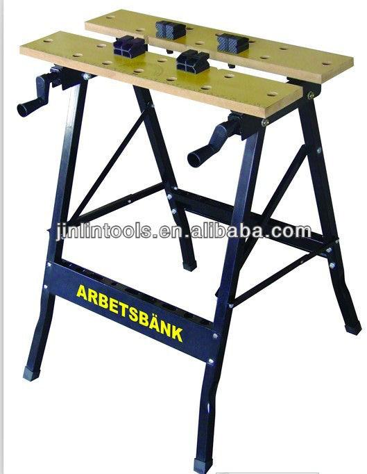 Plegable de acero de trabajo del banco mesa de trabajo - Mesa de trabajo bricolaje ...