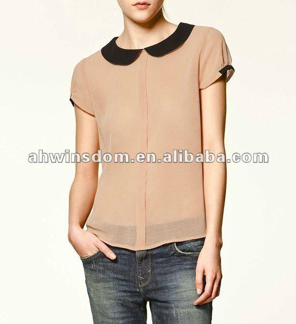 europa 2012 señora blusas de gasa