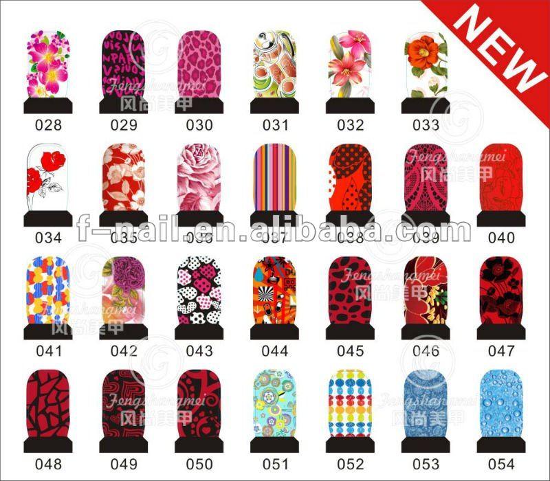 2013 nuevo diseño de uñas de arte pegatinas de calcomanías de