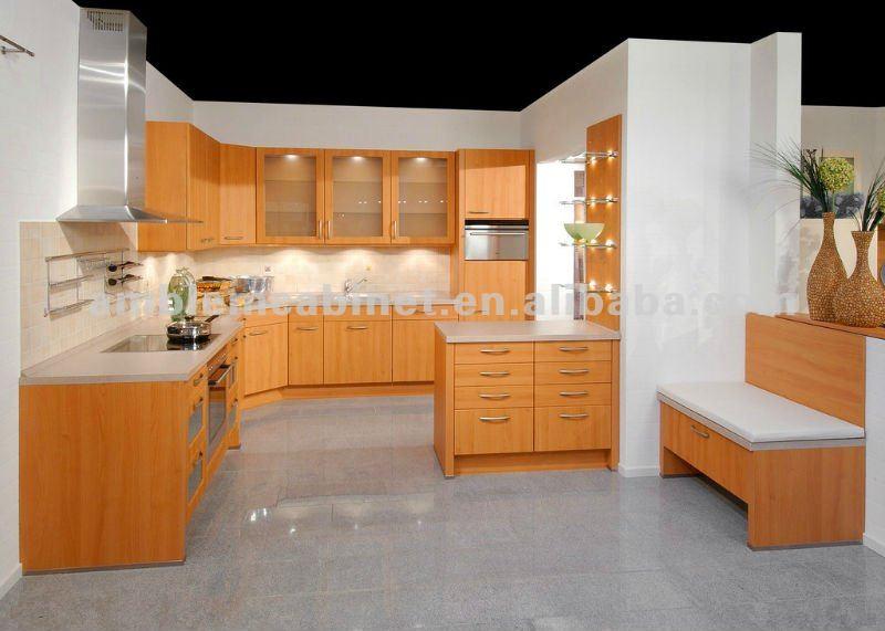 Gabinete de madera cocina de melamina modelo cocinas for Modelos de gabinetes de cocina