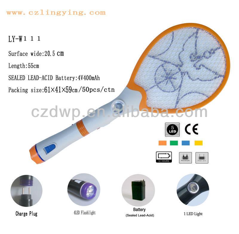 Светодиодный фонарик комаров хлопушка для мух блох ловушку се