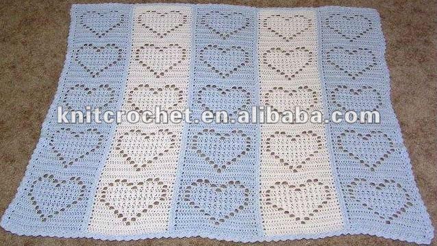 Esquema de mantas a crochet para bebés - Imagui
