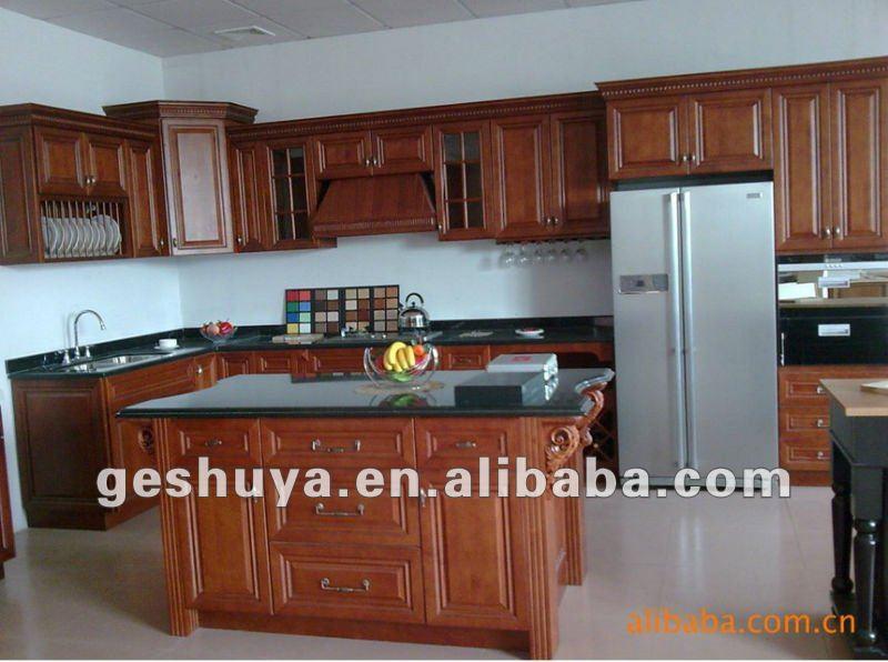 Lb jx1141 style am ricain classique en bois armoires de cuisine armoire de cu - Modele placard de cuisine en bois ...