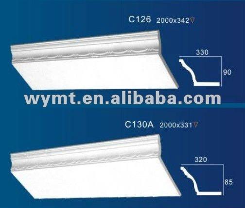 corniche de plafond de plâtre