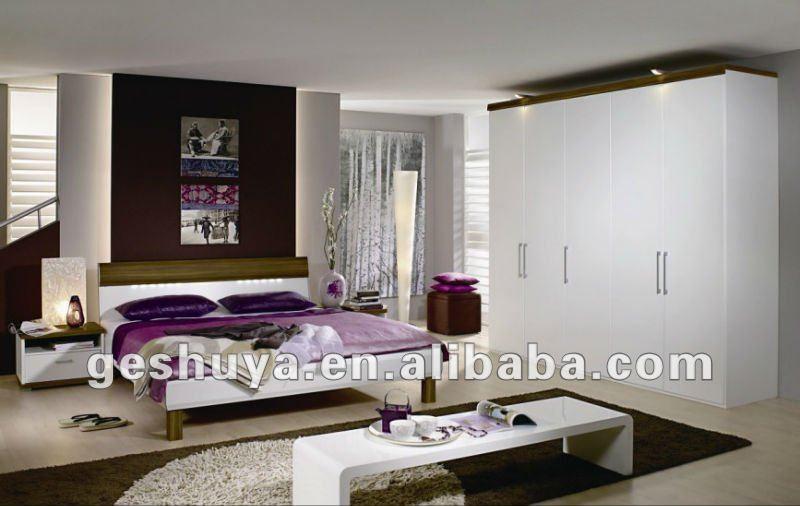 Modern style lb jx5030 funiture chambre avec waredrobe for Modele de chambre a coucher moderne