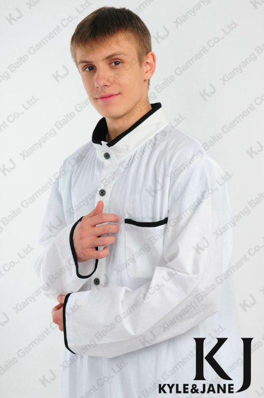 Clássico kj-tb516 galabiya algodão homem elegante blusa da moda de ...