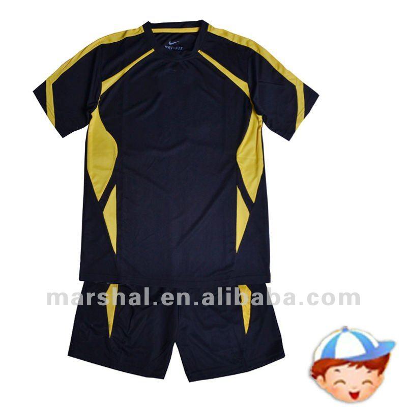 La juventud de fútbol jersey, uniformes de fútbol para los niños de