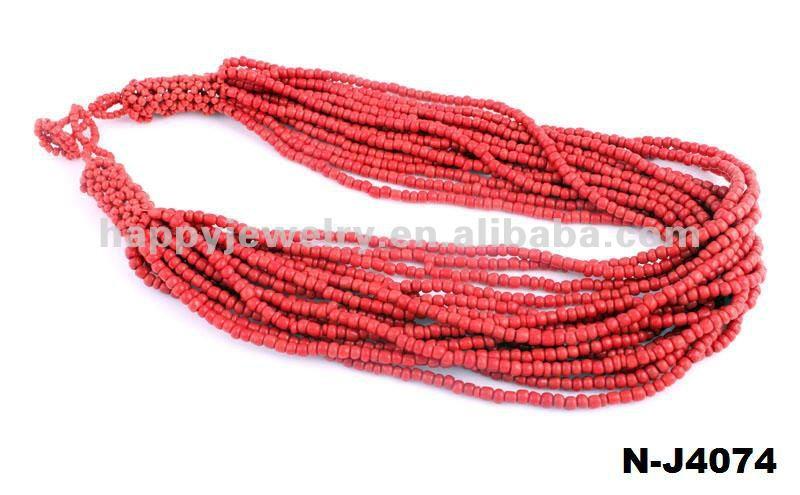Мода чувствительная благородных красный ювао бисер ожерелье
