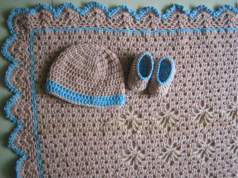 Mantas a crochet de bebé patrones - Imagui