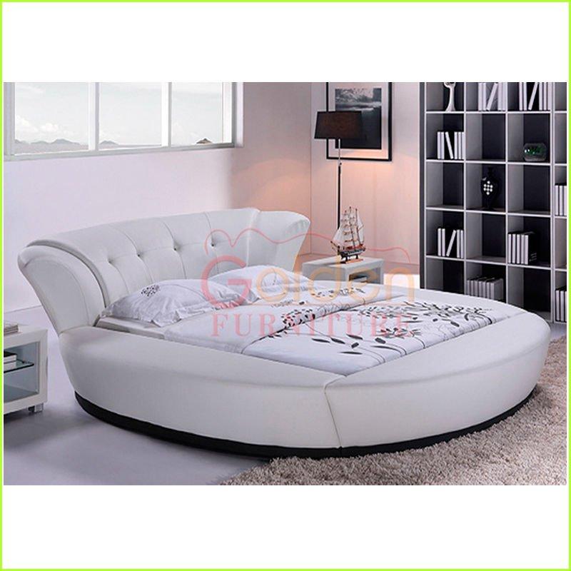 King size cama redonda moderna dise os diamante redondo for Camas king size modernas
