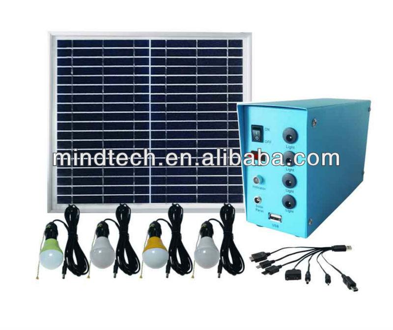 kit de iluminação solar com luz led recarregável luz solar para