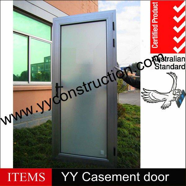 aluminio y vidrio esmerilado interior puerta privado para la