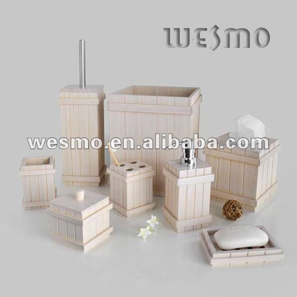 Set De Baño Bambu Dupree:romanas de bambú estilo de juego de cuarto de baño-Instalaciones de