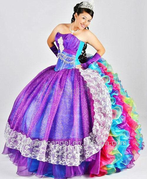 Vestidos de XV años de arcoiris - Imagui