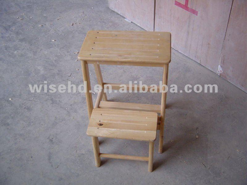 W g c1074 madera escalera de mano heces taburetes y - Taburete escalera madera ...
