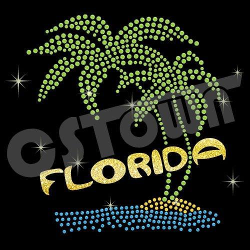 Les Saisons - Page 4 Florida_beach_design_hotfix_rhinestone_motif