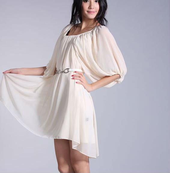 На фото белые платья новая мода 2011