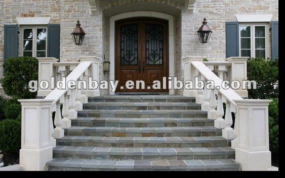Corrimano esterno balaustra marmo scala corrimano free standing corrimano parapetti e corrimano - Scale ingresso esterno ...