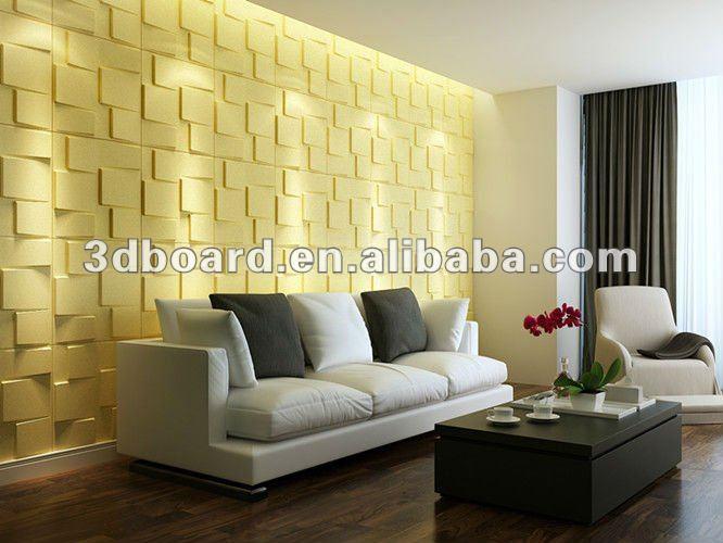 Vinyl Covered Drywall : Decorativas de interior recubierto vinilo panel