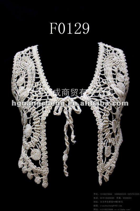 de lujo de algodón tejido de punto de encaje de ganchillo patrón