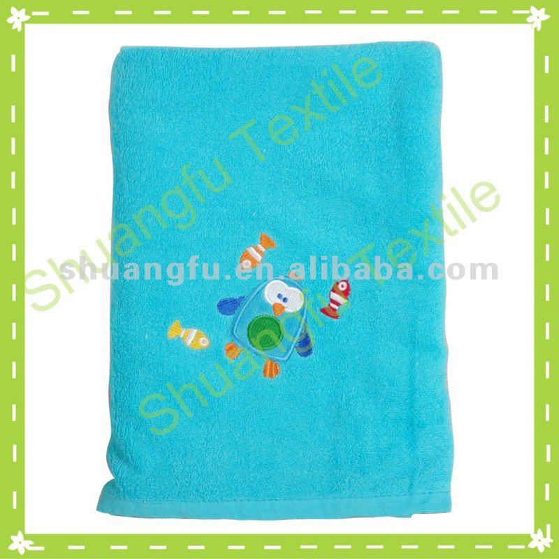 algodão bordado dos desenhos animados kawaii bebês toalhas de banho