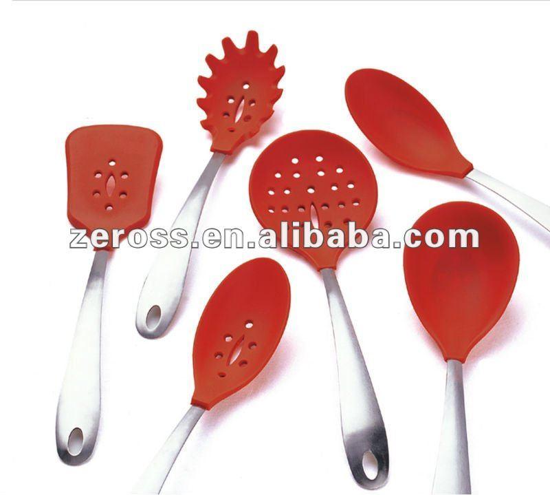 Moda de silicona utensilios de cocina utensilios de cocina de silicona aparatos de cocina - Utensilios de cocina de silicona ...