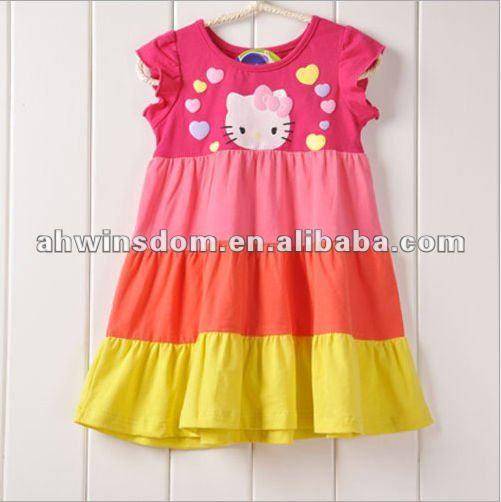 2012 мода прекрасный hellokitty платье принцессы детей