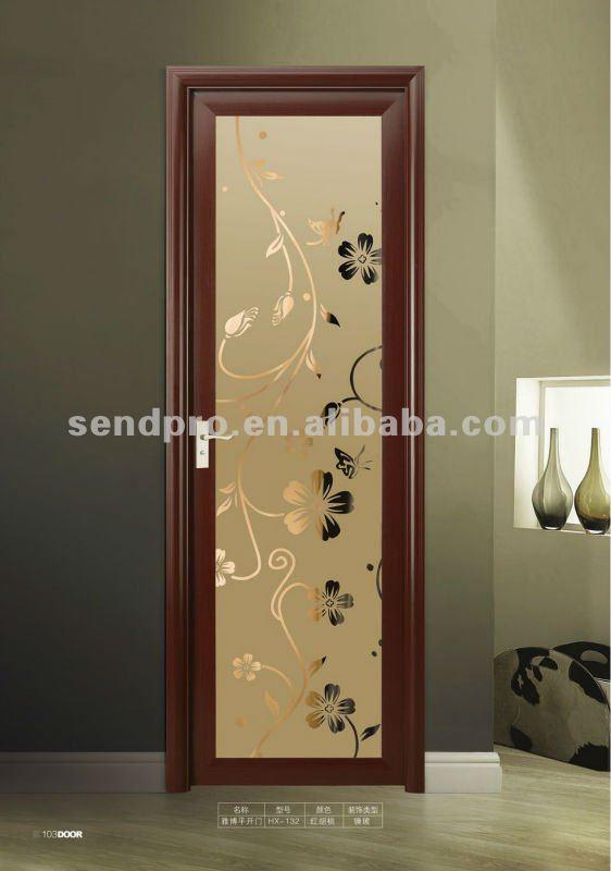 Puertas De Aluminio Para Baño Interior: estándar de cuarto de baño de aluminio de la puerta de vidrio