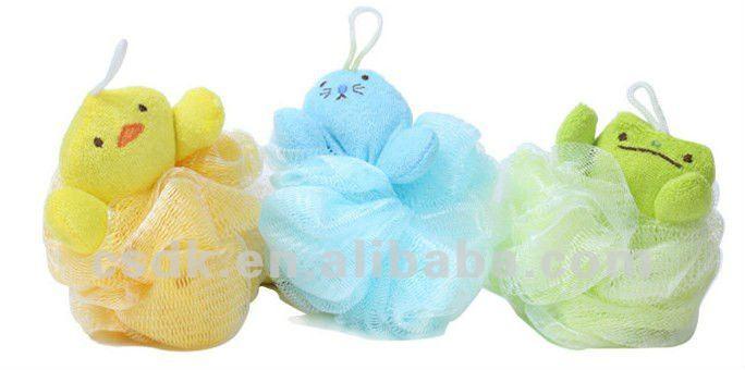 Baño Diario En Ninos:Mesh Bath Sponge Loofah