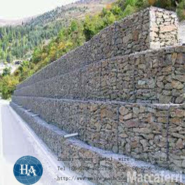 Mur de sout nement de gabion fil de fer barbel id du - Mur soutenement gabion ...