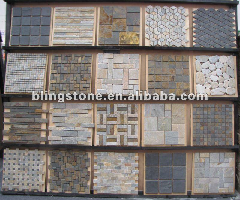 Mosaicos de pared mosaicos de piedra natural for Precio mosaicos para exterior