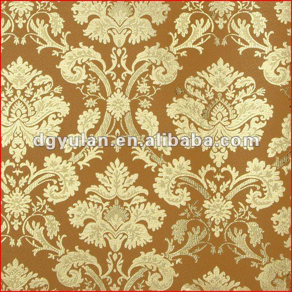 Goldenen wallpaer damast klassischen metallischen