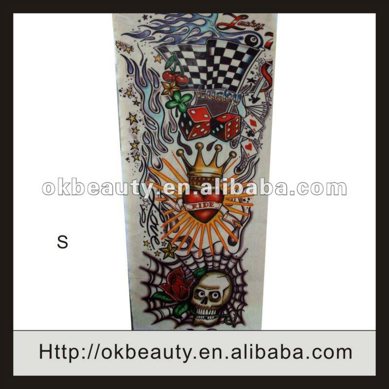 Manicotti di scheletro belli ecologici del tatuaggio di alta qualità