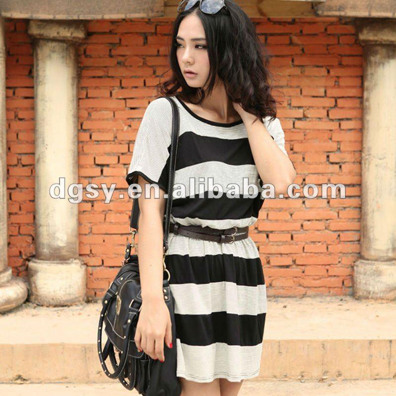 ������ ���� ���� ����� 2014 ladies_black_and_white_striped_dresses_2012.jpg